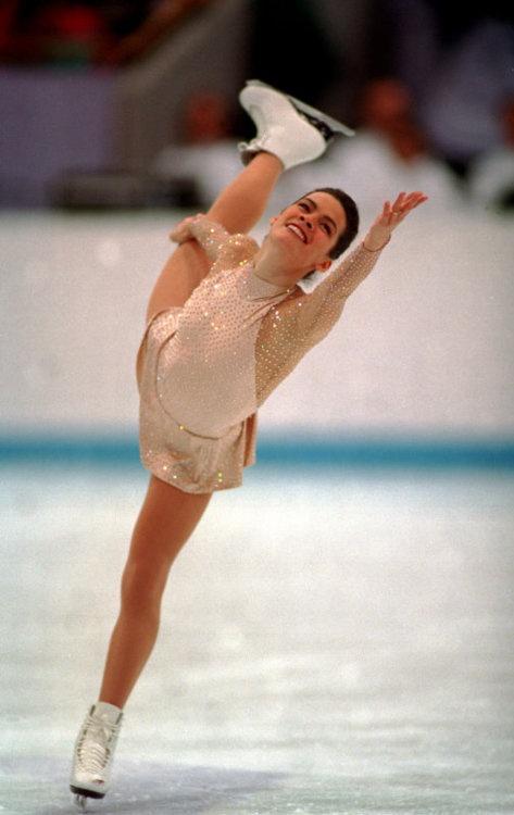 Nancy Kerrigan - Gold/natural-hued Figure Skating / Ice Skating dress inspiration for Sk8 Gr8 Designs.