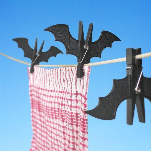 Bat Pegs - Useful clips, shaped like sleeping vampire bats.