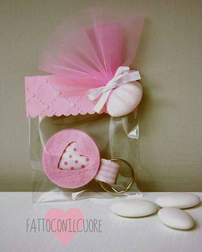 bomboniera portachiavi nascita o battesimo