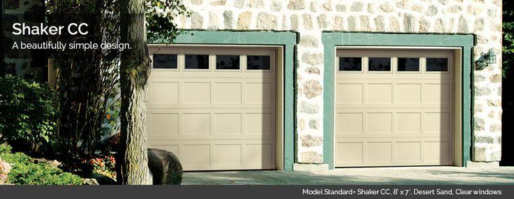 Nice, Shaker CC new panel design from Garaga Garage Doors, for a nice, classic look!