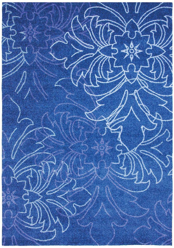 Trendline Exposure modrý 65 x 130 cm - - Koberec, moderní koberec, značkové koberce, koberce s dlouhým vlasem, dětské koberce