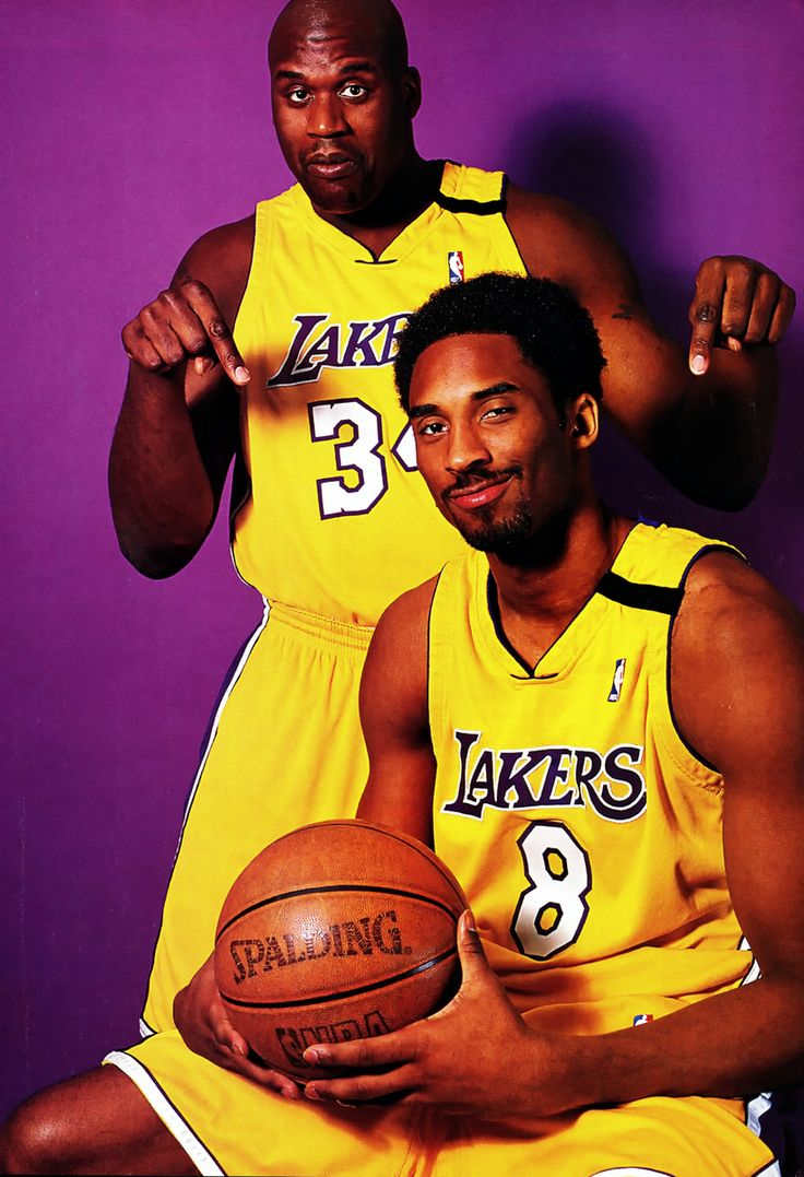 Shaquille O'Neal and Kobe Bryant. Maybe the best duo in basketball.