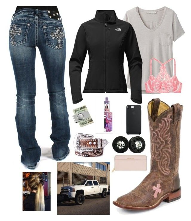 """Town trip 1.27.18"" by mud-lovin-redneck ❤ liked on Polyvore featuring Miss Me, prAna, The North Face, Victoria's Secret, Nocona and Michael Kors"