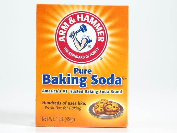 """Baking soda -  Used topically, baking soda takes the sting out of sunburn, minimizes the itch and discomfort caused by a variety of skin conditions (including eczema, prickly heat, and poison ivy). """"This 'buffering effect' may help quell the inflammation that occurs at the skin's surface, easing your soreness."""" To get relief, place a cup of baking soda under a running bath tap so it dissolves completely, and then soak in the water for about 30 min."""