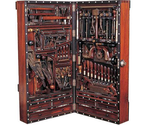 If Henry O. Studley had lived 150 years later, he'd be designing circuit boards. As it stands, Studley was born in 1838 and worked as a piano maker, carpenter and mason. Sometime in the 1890s he designed this amazing tool cabinet, which has become known in woodworking circles as the Henry O. Studley tool chest.