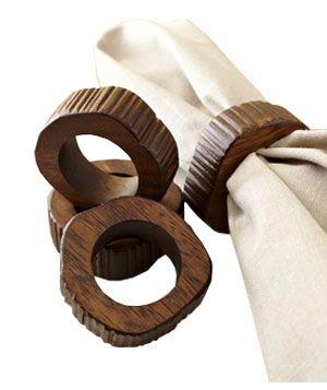 napkin rings: Ideas, Napkin Rings, Napkins, Wood Slices, Slice Napkin, West Elm