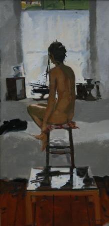 British Artist Ken HOWARD RA-Interior S. Clements Studio, Mousehole