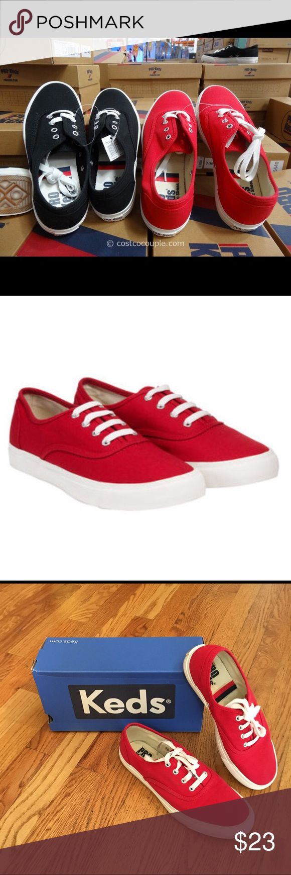 Red Pro-Keds EUC Red Pro- Keds EUC worn 1 x size 7.5 fits more like a 7 pro keds Shoes Athletic Shoes