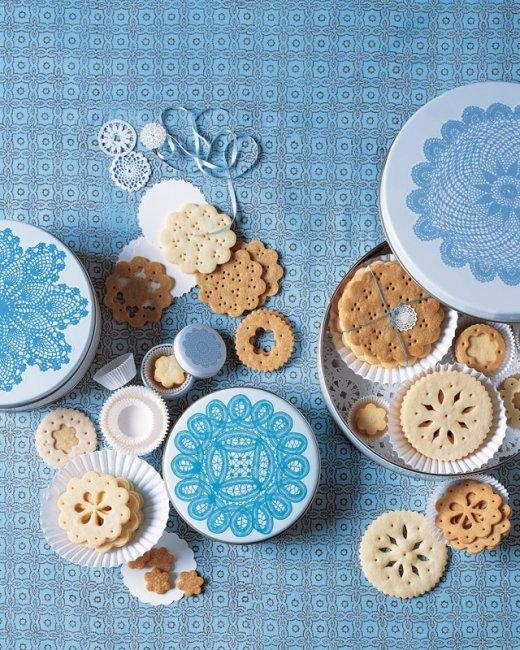 Crisp Sugar Doily Cookies-- Adorable for a Baby Shower