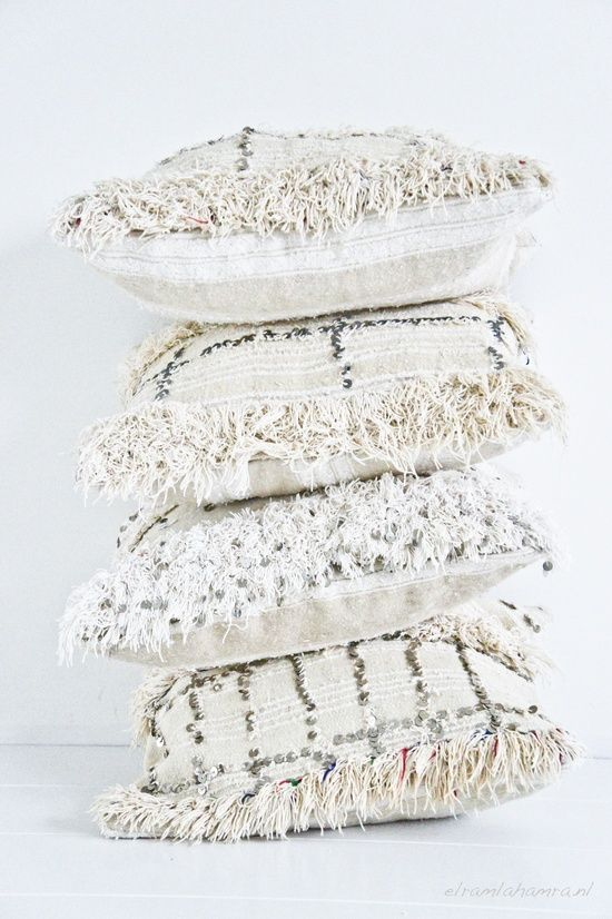 """Moroccan Pillows  I want a Morroccan Blanket so so BAD....these pillows to match..perfect. A girl in Savannah makes them. But so $$$..on my """"Dream"""" list tho."""