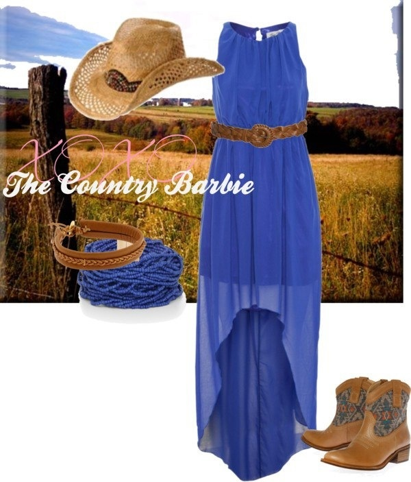 Country outfit - fields, hi-low, boots, belt