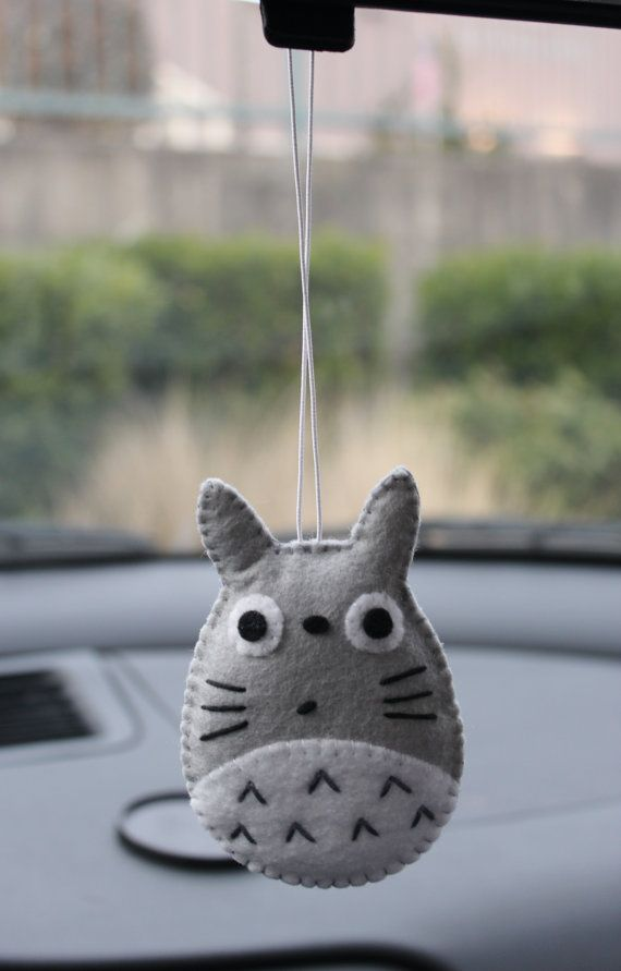 Totoro! I bet I could stuff it with lavender so the car smells good. :3