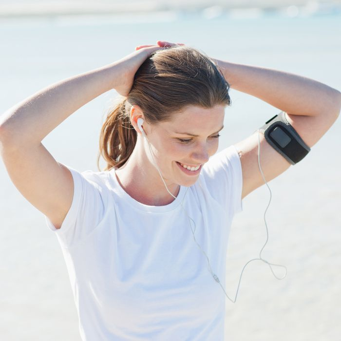 Click here to download a free motivating playlist and matching cardio workout. These high-powered songs from Macklemore, Britney Spears, Coldplay, Lady GaGa, and more will help keep you energized as you blast mega-calories in a quick HIIT session.