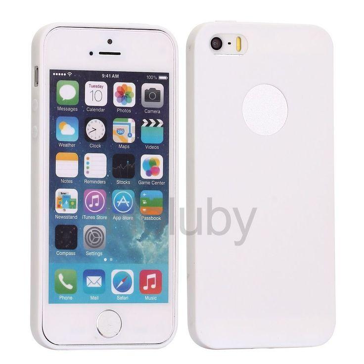 Flexible Silikonhülle für iPhone 5S 5 - Weiß