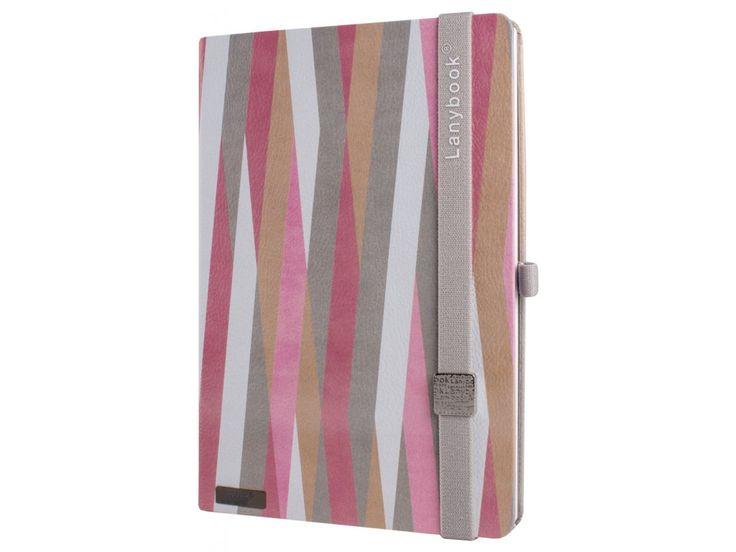 Elegantní zápisník Lanybook s matným povrchem v jemných barevných tónech s kovovým Lanybuttonem.