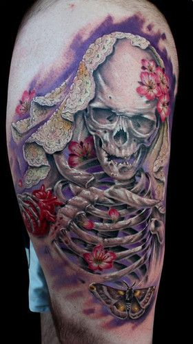 Amazing detail.. Skeleton tattoo  ;-) ;-) ;-)