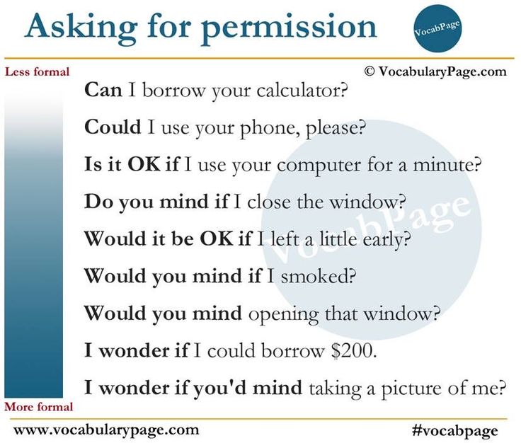 Asking for permission - Requests with modals and if clauses