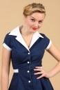 The Navy Diner Dress by Heartbreaker - Jurken - Kleding