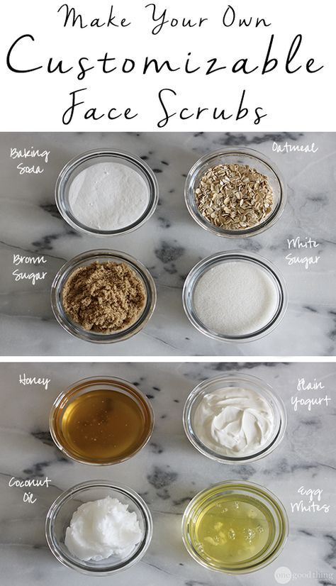 """Face scrubs aren't """"one-size-fits-all."""" Learn how to make your own face scrub that is customized for your skin type!"""