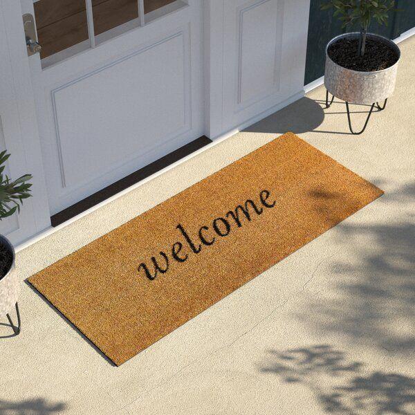 Salsbury Welcome Coir Non Slip Outdoor Door Mat In 2020 Door Mat Outdoor Door Mat Entryway Mats