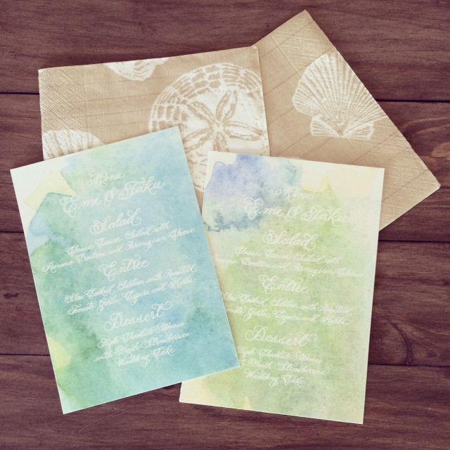 「 Watercolor painting♡ 」の画像|ハワイウェディングプランナーNAOKOの欧米スタイル結婚式ブログ |Ameba (アメーバ)