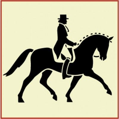 Dressage Horse With Rider Stencil | Gorgeous home decor and crafting stencil from The Artful Stencil! US Shipping in only 5 days. We ship all over the world.