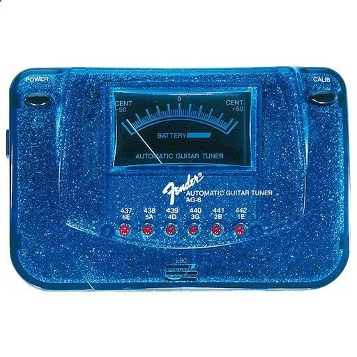 Fender AG-6 Sparkle-Tone Automatic Guitar Tuner, Blue Sparkle