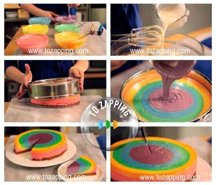 17 mejores ideas sobre pasteles de arco iris en pinterest - Como preparar un cumpleanos ...