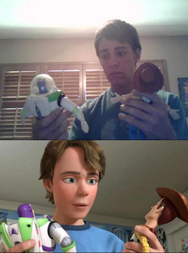 cartoon look alikes, Andy from Toy Story