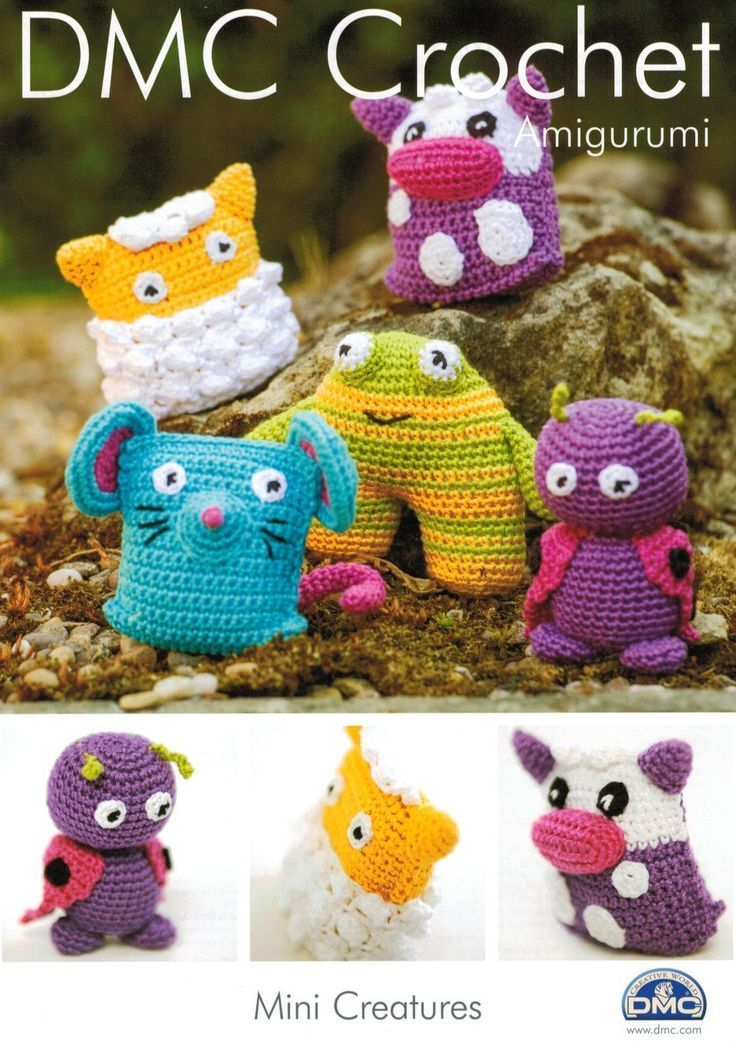 Dmc Amigurumi Mini Creatures Crochet Pattern Crochet Patterns And