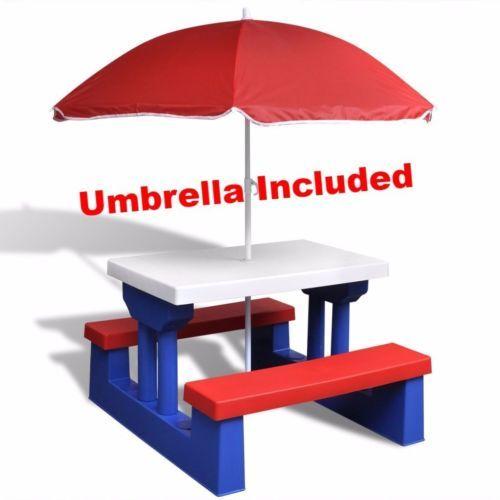 Children-Garden-Furniture-Outdoor-Picnic-Table-Set-Umbrella-Patio-Bench-Parasol