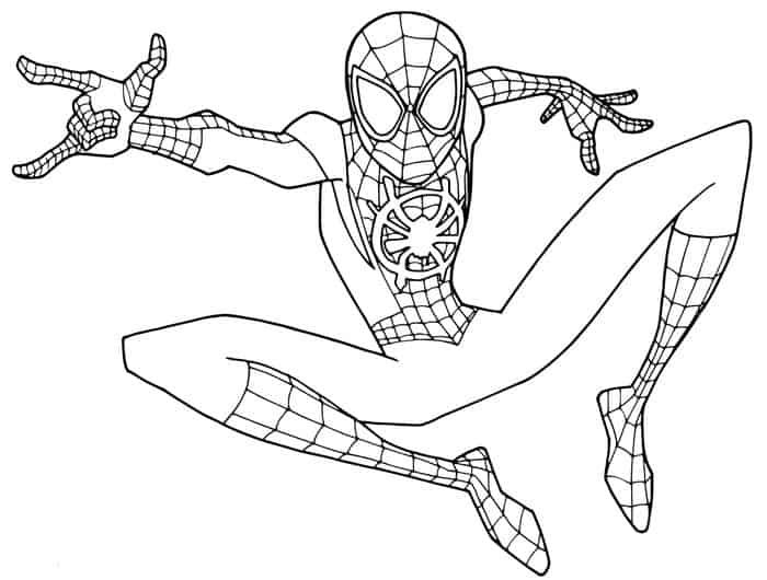 Spiderman Miles Morales Coloring Pages Spider Coloring Page Spiderman Coloring Superhero Coloring Pages