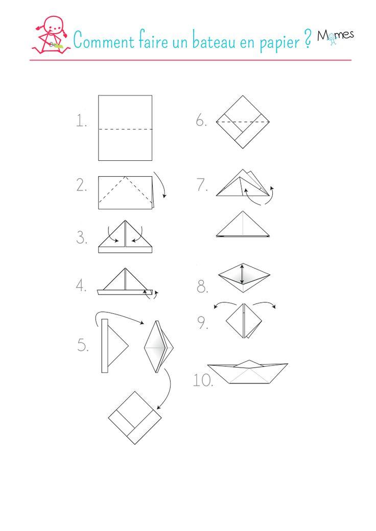 1000 id es sur le th me bateaux en papier sur pinterest bateau en origami origami et poissons. Black Bedroom Furniture Sets. Home Design Ideas