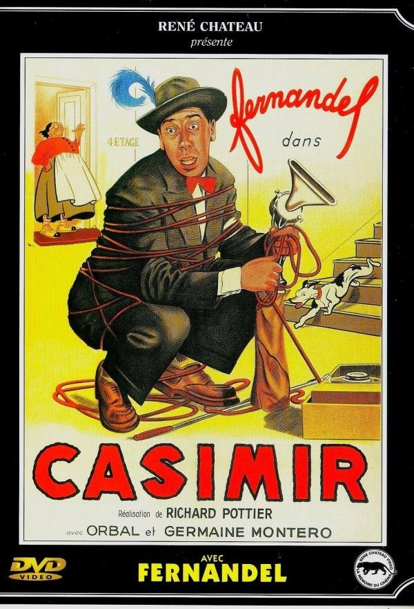 """Casimir est un film franco-italien réalisé par Richard Pottier, sorti en 1950. Casimir est représentant en aspirateurs chez """"Super Caddy"""". Chez un de ses clients, il se trouve malgré lui mêlé à un quiproquo provoquant un drame d'amour et une passion pour sa modeste personne, de la part de la bouillante Angélita."""