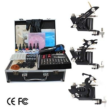 Shader and Liner Tattoo Kit with Aluminum Carrying Case  (Limited Special Offer) – USD $ 104.49