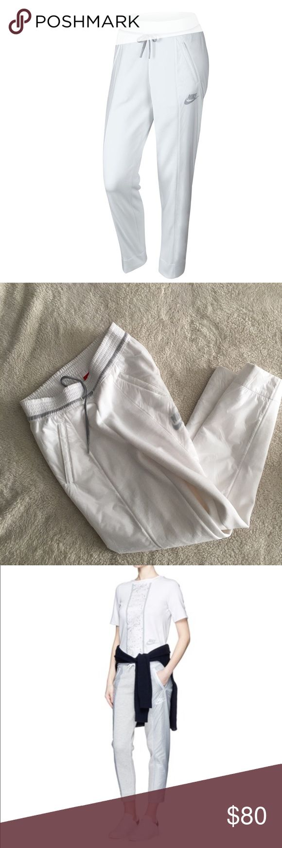 Nike Tech Fleece Sweatpants *Nike Tech Fleece Sweatpants!  *Retailed for $150 *70% cotton and 30% polyester  *Jogging adjusted and padded, decorated with nylon inserts on the legs. (3rd picture is the same sweatpants in a different color way) *2 zipped slanted front and  *Elastic waist with a drawstring.  *Inseam: 27 inches  *Just a small small faint stain near legging opening while trying it on. Probably can be washed off!  *No trades, please! 0002091700bsp Nike Pants Track Pants & Joggers