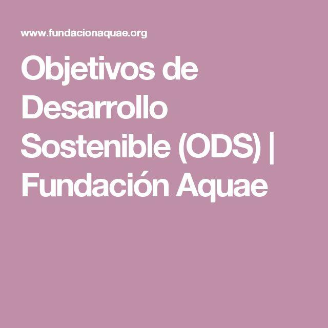 Objetivos de Desarrollo Sostenible (ODS) | Fundación Aquae