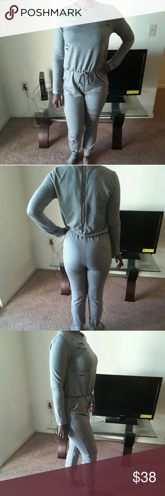 Grey Jumpsuit Cute grey jumpsuit great for lounging Pants Jumpsuits & Rompers