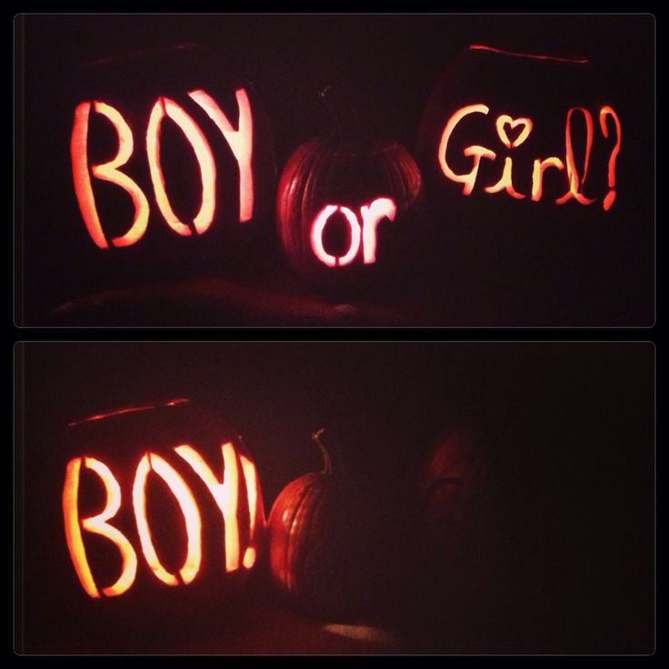 Carved pumpkin gender reveal..not as simple as it looks! Carving pumpkins is a pain in the butt!