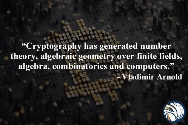 #cryptography has generated number theory, algebraic #geometry over finite fields, algebra, combinatorics, and #Computers