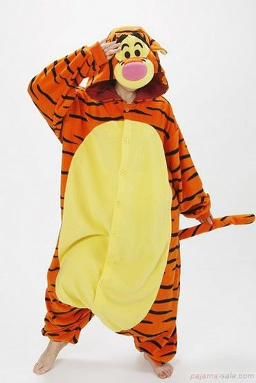 Animal onesies for adults, Tigger Adult Kigurumi Animal costumes, cute pajamas