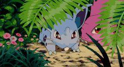pokemon mine pokemon gif pokemon gifs Nidoran i just watched the celebi movie so i'm spamming out gifs