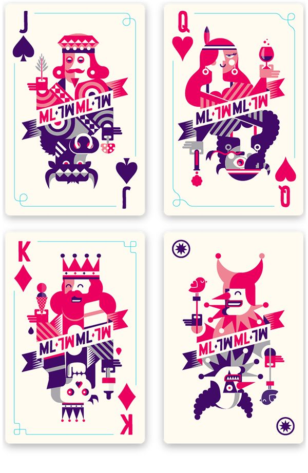 Mysteryland Playing Cards by Patswerk, via Behance