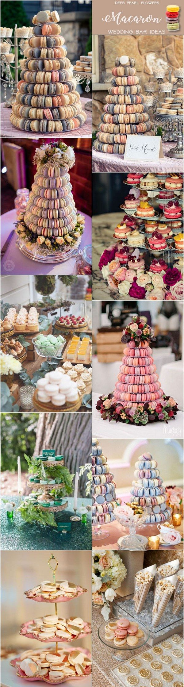 Macaron wedding dessert food bar ideas for wedding reception / http://www.deerpearlflowers.com/wedding-catering-trends-dessert-bar-ideas/2/