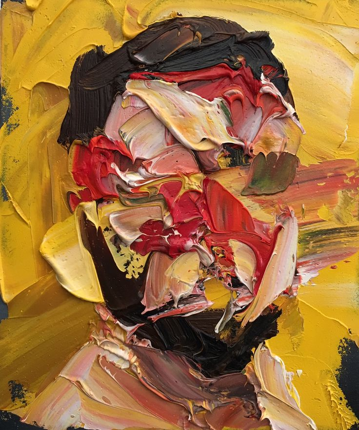 Frans Smit: Relection with yellow: SOLD by DF Contemporary