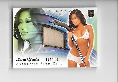 2009 benchwarmer #ultimate lena yada hockey #stick prop swatch #117/175,  View more on the LINK: 	http://www.zeppy.io/product/gb/2/172082566609/