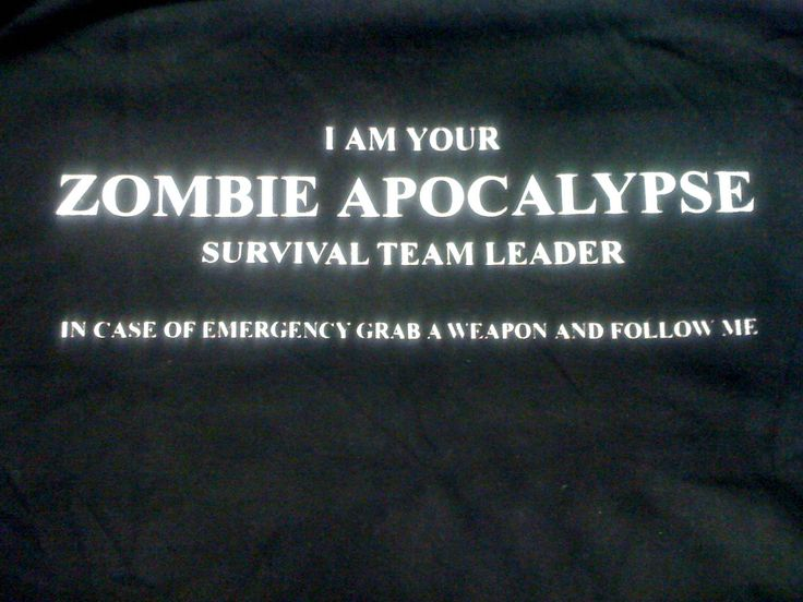Most excellent shirt by EdgewoodApparel on Etsy  Zombie Apocalypse  Survival Team Leader Shirt