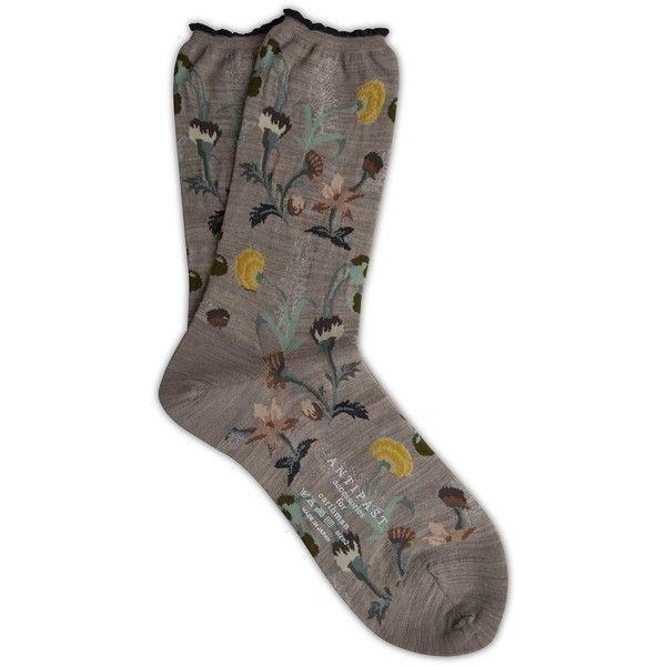 Antipast Socks ($360) ❤ liked on Polyvore featuring intimates, hosiery, socks, wool socks, antipast, antipast socks and woolen socks