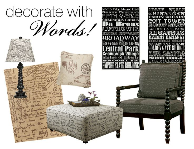 Let your style speak for itself   try accents featuring decorative words  and scripted fonts. 9 best Naturally Inspired images on Pinterest   Home  Decorative