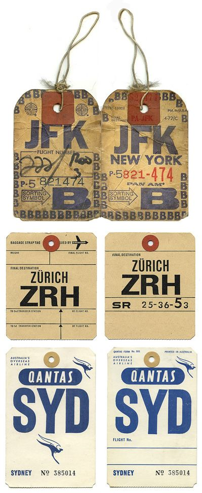 Type Tuesday: Luggage Tags — UPPERCASE